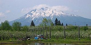 Mount Iwaki Stratovolcano in Aomori Prefecture, Japan