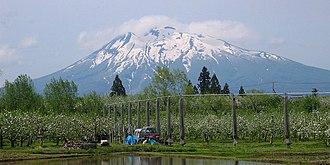 Mount Iwaki - Mount Iwaki and apple orchard
