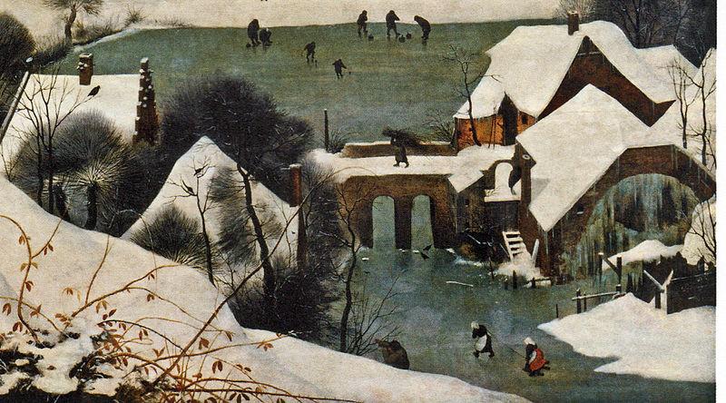 Datei:Jäger im Schnee (Brücke und Mühle).jpg