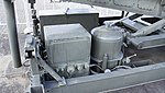 JASDF Nike-J missile launcher power distribution box & hydraulic oil reservoir at Hamamatsu Air Base Publication Center November 24, 2014.jpg