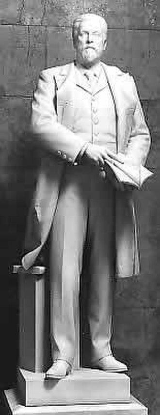 Jabez Lamar Monroe Curry - Marble sculpture by Dante Sodini (1908)