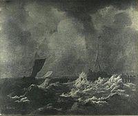 Jacob van Ruisdael - Sailing ships in stormy seas.jpg
