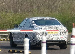 Jaguar XF aka X260 disguised prototype 3000cc sic DVLA first registered September 2014.JPG