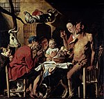 Jakob Jordaens: Satir u gostionici, 17. stoljeće