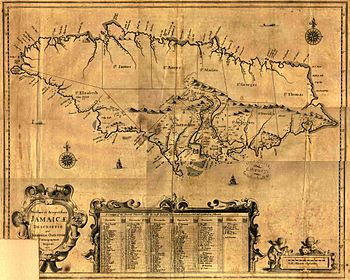 Map of Jamaica (1671)