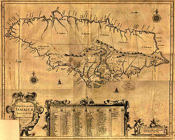 Karte von Jamaika (1671)