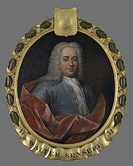 Portret van (Sir) Walter (Gualtherus) Senserf of Senserff (1683-1752)