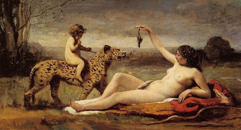 File:Jean-Baptiste Camille Corot Bacchante with a Panther.jpg