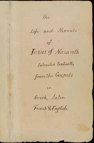 Jefferson Bible - Image: Jefferson Bible