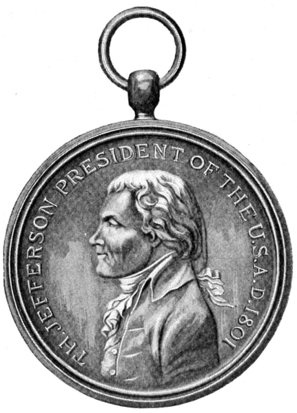 File:Jefferson Medal given to a Chief by Lewis and Clark.png