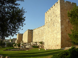 Jerusalem of Gold - Walls of the old city of Jerusalem as the sun sets.