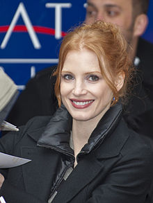 Jessica Chastain smiles for the camera