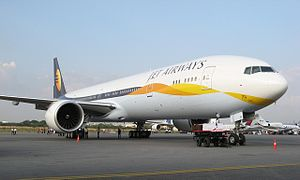 "Current Jet Airways livery-the ""flying su..."