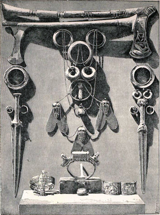 Ahhotep II - Jewelry and weapons belonging to Ahhotep II