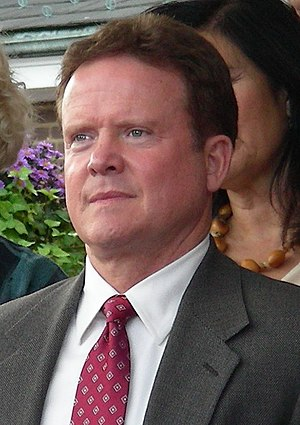 Jim Webb, former Secretary of the Navy, at a c...