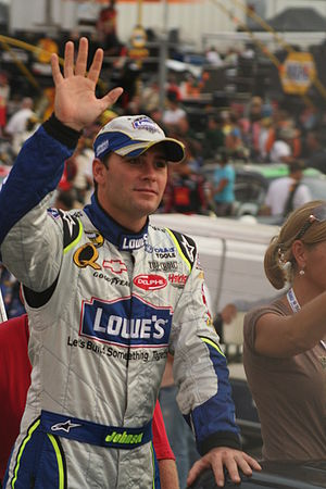 NASCAR driver Jimmie Johnson in August 2007 at...