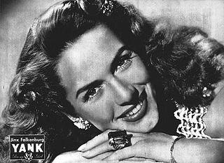 Jinx Falkenburg Model, actress, radio personality, columnist