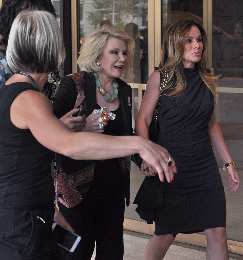 Joan Rivers and Melissa Rivers during NY Fashion Week 2012 (crop)