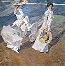 Joaquín Sorolla y Bastida - Strolling along the Seashore - Google Art Project.jpg