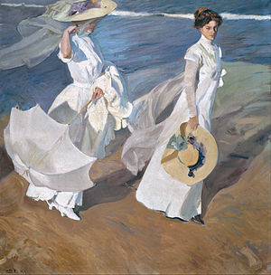 Joaquín Sorolla y Bastida - Strolling along the Seashore - Google Art Project.jpg