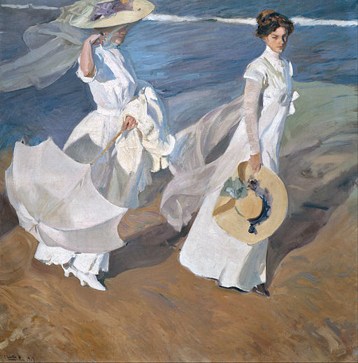 Joaquín Sorolla y Bastida - Strolling along the Seashore - Google Art Project
