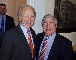 Joe Lieberman - Lieberman with Marty Markowitz at the 2011 Brooklyn Book Festival to discuss the role spirituality played in his life.