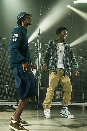 CJ Fly - CJ Fly (left) with Joey Badass at the Under the Influence Tour in Toronto, Canada on August 10, 2013