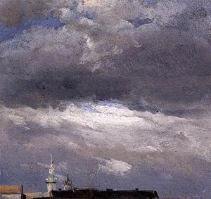 Cloud Study, Thunder Clouds over the Palace To...