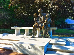 John Ball Zoological Garden - Statue of John Ball in Grand Rapids.