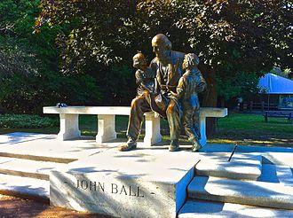 John Ball Zoological Garden - Statue of John Ball in Grand Rapids.