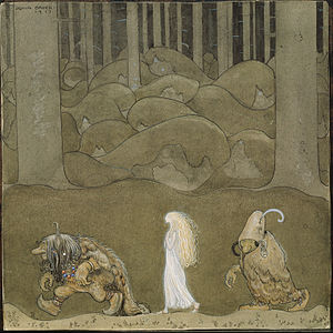 Troll - The Princess and the Trolls –The Changeling, by John Bauer, 1913.