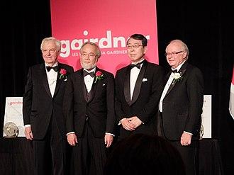 Yoshinori Ohsumi - with John Dirks, Kenjirō Monji and D. Lorne Tyrrell