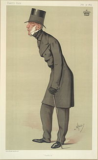"""Suffolk"", a caricature by ""Ape"" published in Vanity Fair in 1875."