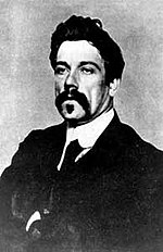 John Millington Synge, author of The Playboy of the Western World, which caused riots at the Abbey on its opening night.