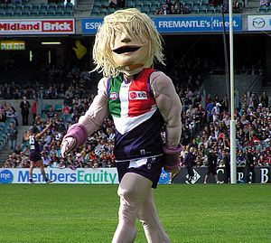 "Fremantle Football Club - Johnny ""The Doc"" Docker, Fremantle's official mascot since 2003"