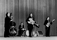 Johnny Cash and the Tennessee Three in 1961.