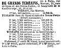 Journal des débats - 15 avril 1854 - Page 3 - 1ère colonne - Arènes nationales (vente du terrain).jpg