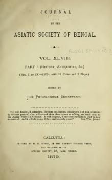Journal of the Asiatic Society of Bengal Vol 48, Part 1.djvu