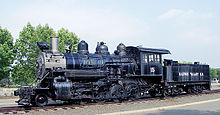 Photograph of Baldwin Rahway Valley 15 on static display at Steamtown, U.S.A., Bellows Falls, VT.