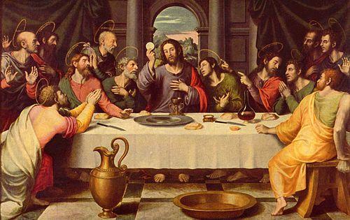 La Cène par Juan de Juanes (source: Wikipedia)