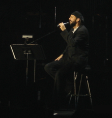 Juan Luis Guerra during a concert in Boston, MA.
