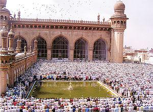 Hyderabadi Muslims - Muslims offer Ramzan Last Friday Prayers at Mecca Masjid