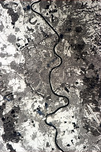 Cologne - Cologne, seen from the International Space Station