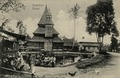 "KITLV - 1405765 - Demmeni, J. - ""Fish pond Taloeg"". Mosque with minaret and sacred pond at Taluk at Fort de Kock (Bukittinggi) - 1900-1911.tif"