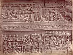 KITLV 90022 - Isidore van Kinsbergen - Reliefs on the Borobudur near Magelang - Around 1900.tif