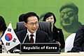 KOCIS President Lee at the second session of the Third Korea-Japan-China Summit (4654620618).jpg