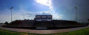 Kansas Wesleyan Coyotes - Stadium bleachers at the former Glen Martin Stadium at Kansas Wesleyan University in Salina, Kansas.