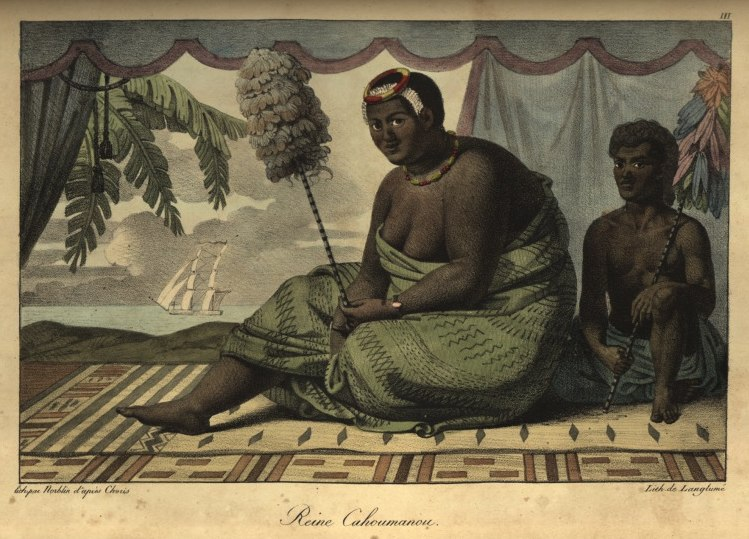Kaahumanu with servant