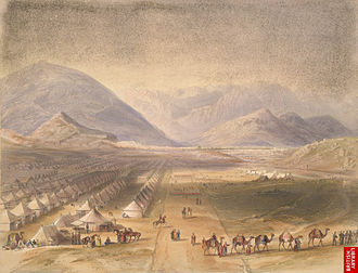 Kabul Expedition (1842) - British and Indian troops outside Kabul 1842.
