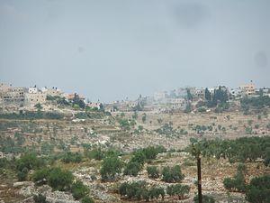 Kafr al-Labad - Kafr al-Labad, from the east